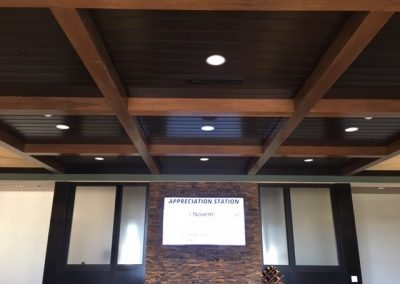 Architectural Surfaces Wood Ceiling at Fairway Independent Mortgage in Madison, WI
