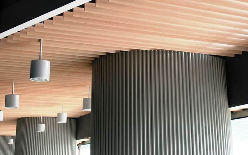 Wood Ceiling by Central Ceiling Systems, Inc.